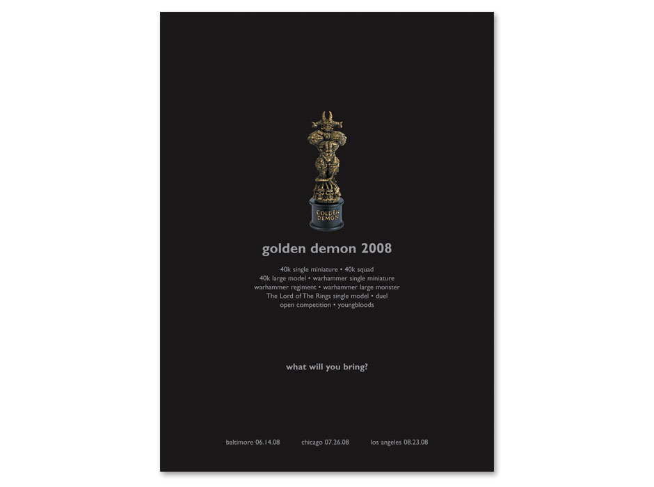 Games Workshop Golden Demon Ad