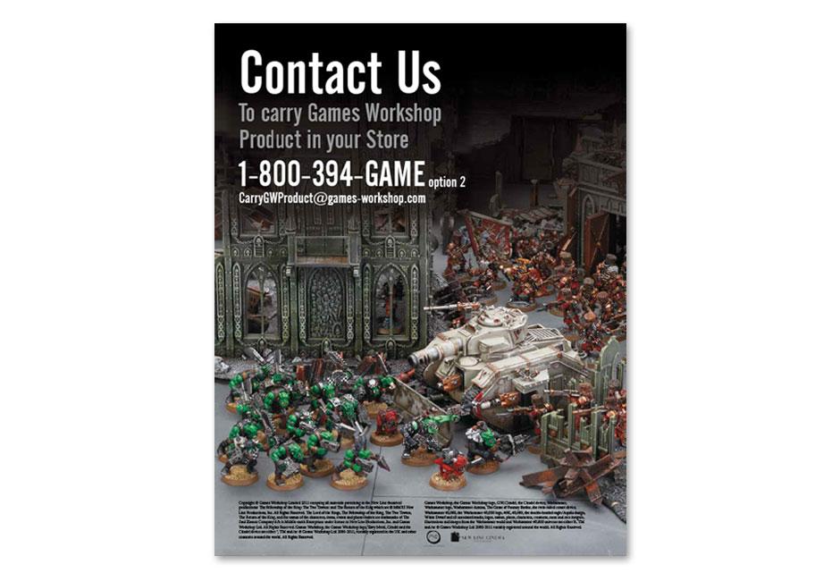 Games Workshop Sales Brochure